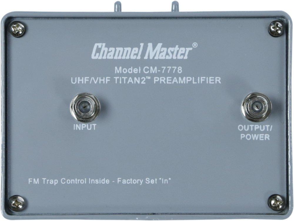 Channel Master CM-7778 Titan 2''Medium-Gain'' Mast Mounted Preamplifier for TV Antennas