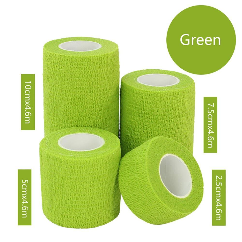 JaneDream Sports Waterproof Breathable Safety Adhesive Flexible Elastic Bandage First Aid Medical Health Care Gauze Protect Finger Wrist Ankle Knees Tape S 2.5cm Green