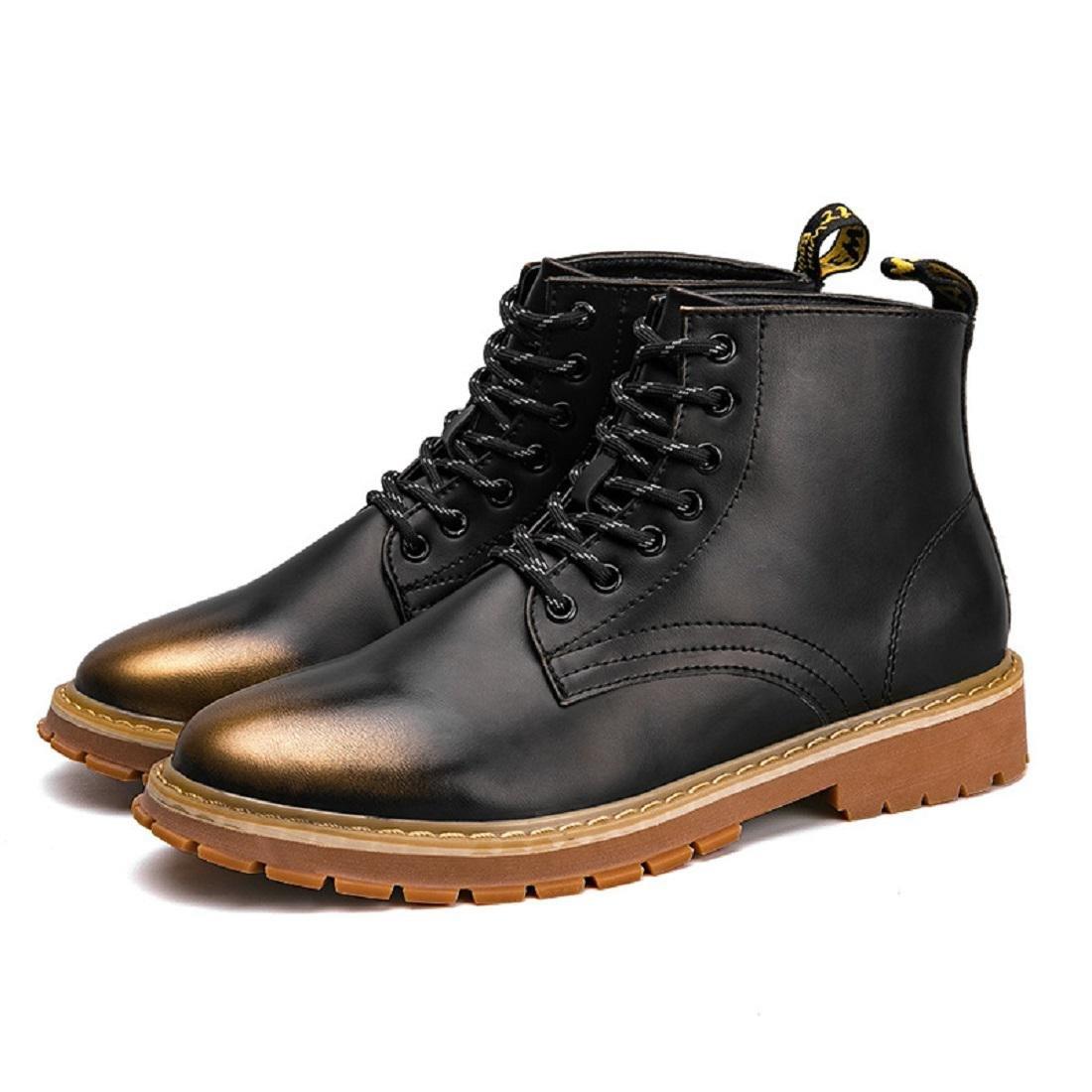 Herren Mode Martin Stiefel Gemütlich Werkzeugschuhe Freizeit Lederschuhe Flache Schuhe Rutschfest Warm halten EUR GRÖSSE 39-44