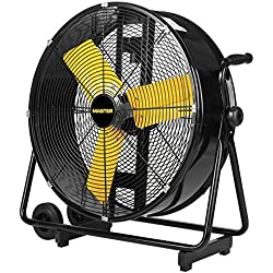 Master PROFESSIONAL High Velocity Floor Fan, 24-inch, 2 Speed, 4,000 CFM, OSHA Compliant - MAC-24DCT