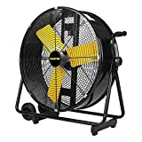 Master PROFESSIONAL High Velocity Floor Fan, 24-inch, 2 Speed, 4,000 CFM, OSHA Compliant