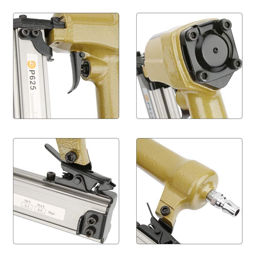 P625 Pneumatischer Luftnagler Lufthefter f/ür Getreidenagel 100 St/ück Luftnagler L/änge 10-25mm Pneumatische Nagelpistole