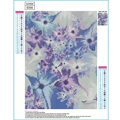 WISREMT DIY Diamond Painting Kit Full Drill Embroidery Cross Stitch Arts Craft Canvas Wall Home Decor Craft for Adults or Kids-Flower 30x40CM