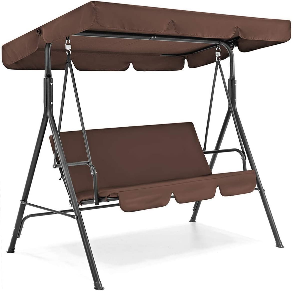 Wallfire Patio Swing Cover Set - Waterproof Swing Canopy Seat Top Cover + Swing Seat Cover for Garden Patio Swing, Outdoor 3 Person Swing Replacement Dustproof for Patio Yard Seat