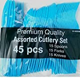 Blue Assorted Cutlery Set-45 pcs