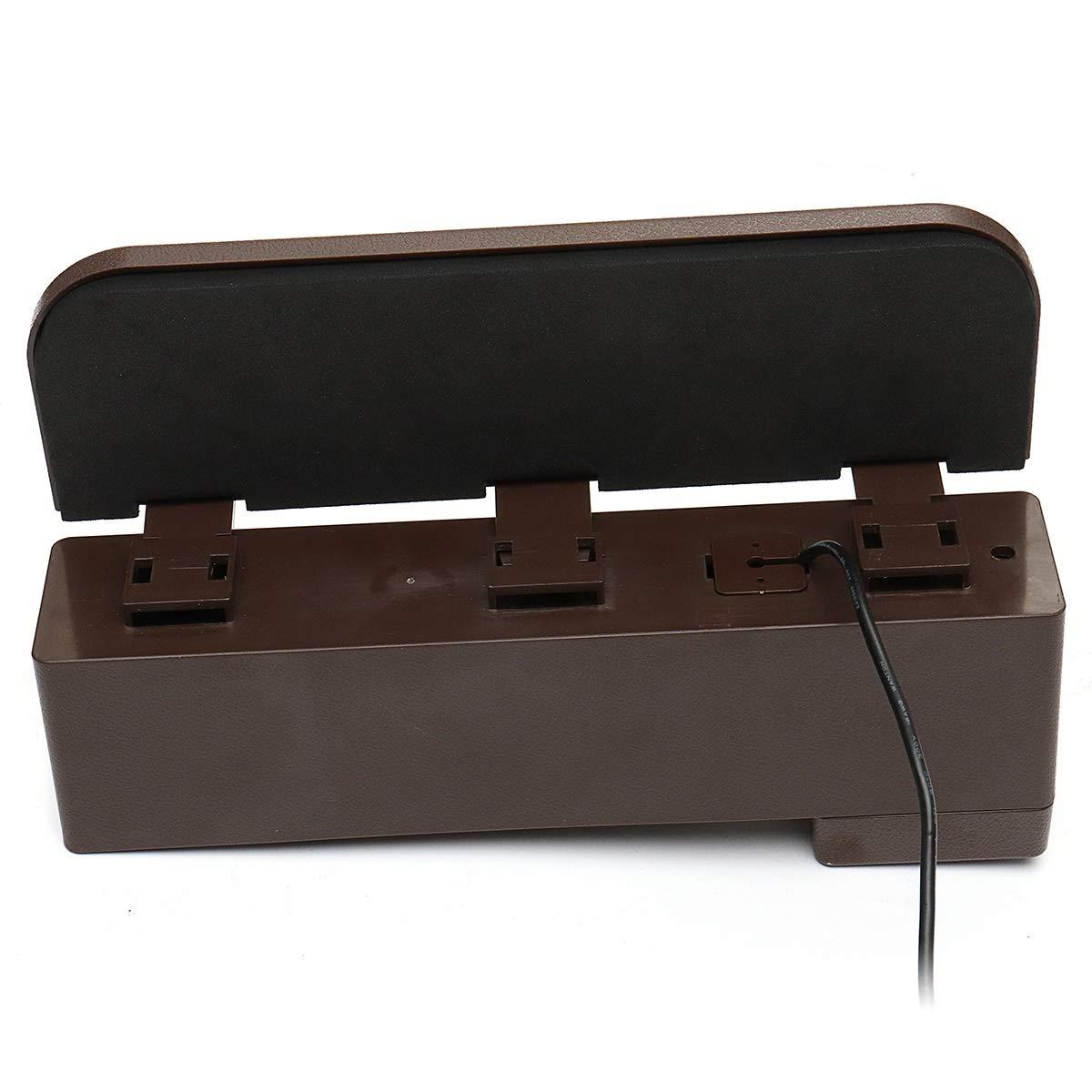 ZHENWOCAI Plastic Car Seat Crevice Storage Box Gap Organizer with Phone USB Wireless Charging New (Color : Off-white)