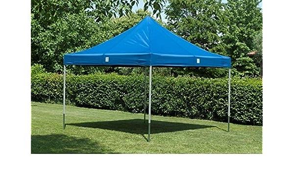 Cortina cenador para jardín 3 x 3 impermeable azul Pérgola plegable para fiere: Amazon.es: Hogar