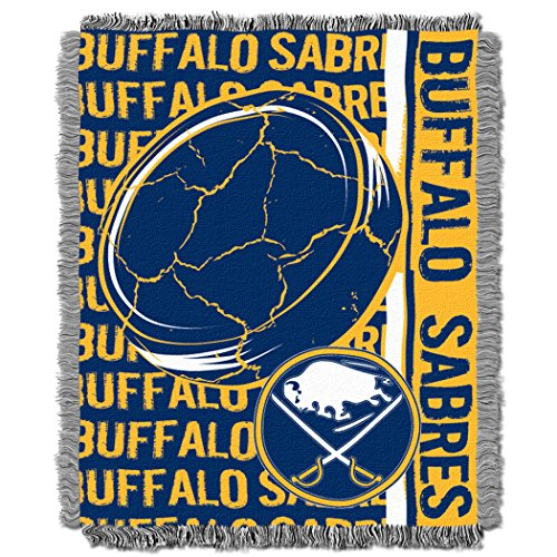(The Northwest Company Officially Licensed NHL Buffalo Sabres Double Play Jacquard Throw Blanket, 48