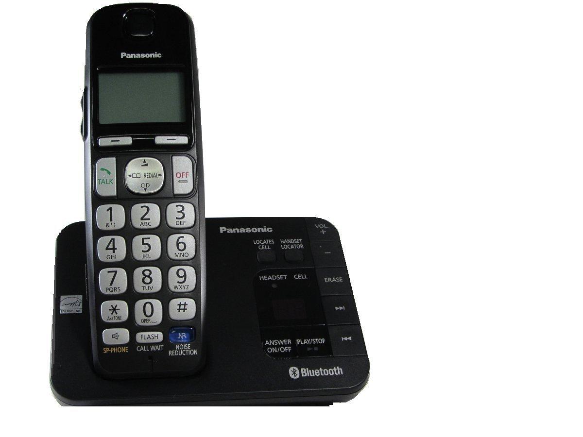 Amazon.com : Panasonic KX-TGE260B DECT 6.0 Plus Link-to-cell Bluetooth Cordless  Phone System : Electronics