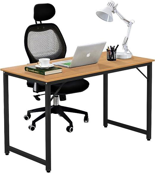 DlandHome 120 x 60 cm Escritorios Mesa de Ordenador Compacto ...