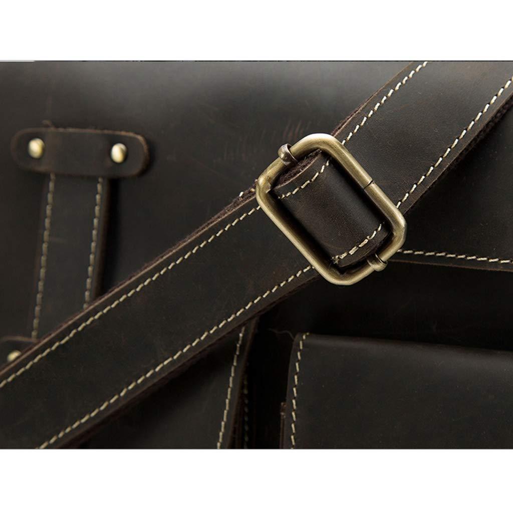 Crossbody Bags for Men Vintage Leather Messenger Bag Fashion Casual Shoulder Bag