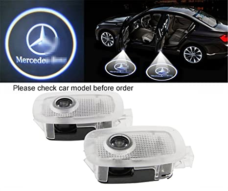 Car Door LED Lighting Entry Ghost Shadow Projector Welcome Lamp Logo Light  for Mercedes Benz W221 benz S Class AMG S550 S500 S350 S63 S65 2006-2013, 8