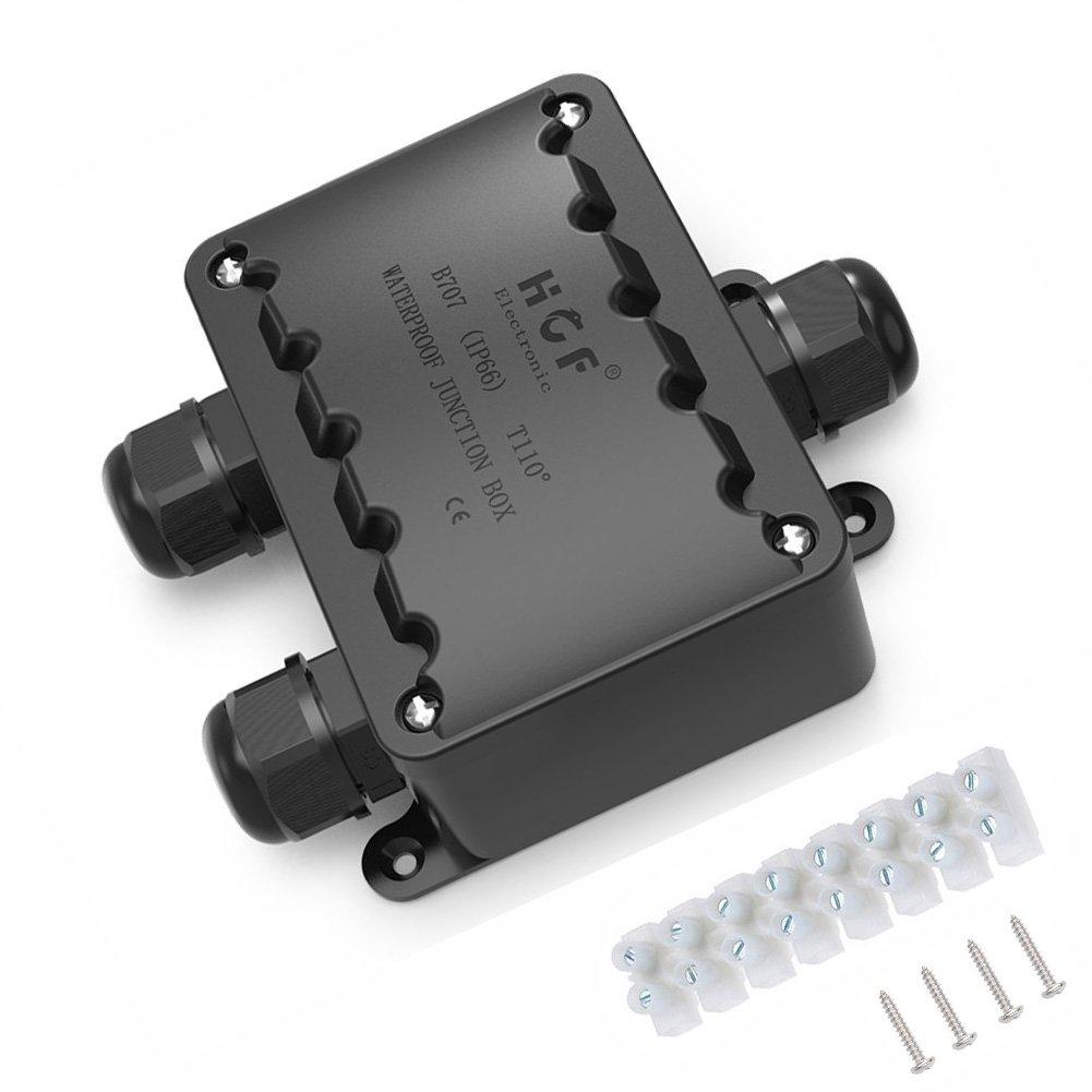 /Ø 9 mm exterior cable de empalme Impermeable exterior M25 // M20 Cajas terminales impermeables 3 canales Conector de prensaestopas 8 terminales 16 mm K-Bright IP66 bajo el agua