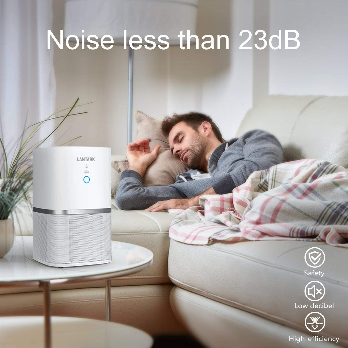 Air Purifiers For Home 5 in 1 TRUE HEPA Filter Air Purifier For Allergies Smoker Eliminates