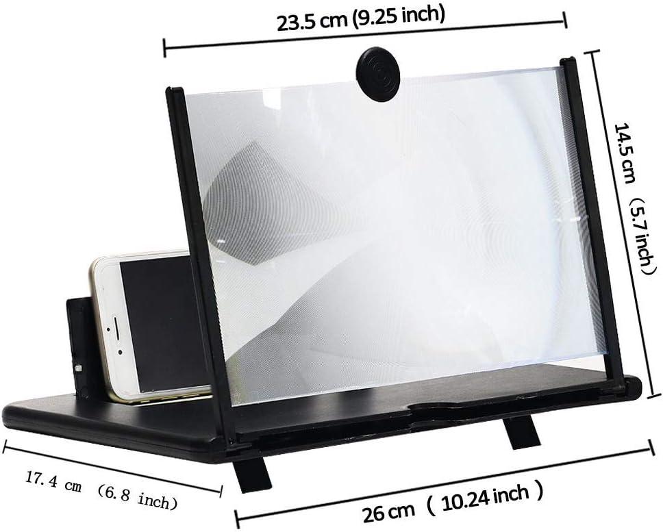 Lupa de pantalla pantalla de 12Stretch design Screen Mobile Phone adecuada para ver videos de pel/ículas en todos los tel/éfonos inteligentes