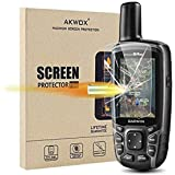 (Pack of 4) Tempered Glass Screen Protector for Garmin GPSMAP 62 64 64s 64st, Akwox 0.3mm 9H Hard Scratch-resistant…