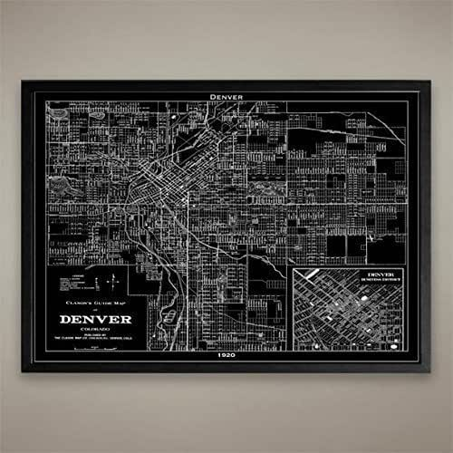 Amazon.com: Denver Map Print, Home Or Office Decor: Handmade