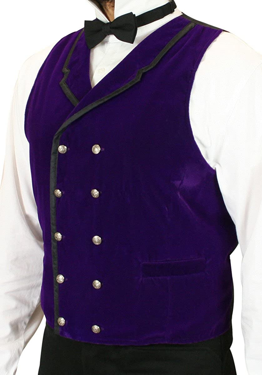 Historical Emporium Mens Gramercy Velvet Dress Vest 006672