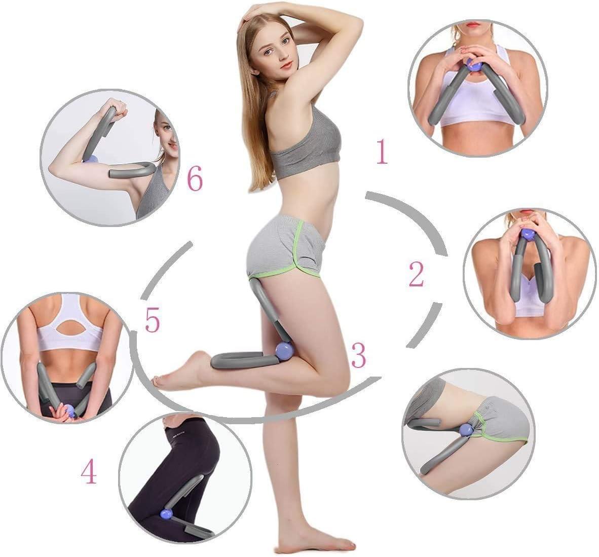 Thigh Toner Leg Exerciser Thigh Trimmer Exerciser Butt Arm Leg Muscle Home Sport Equipment GHINNY Thigh Master Inner and Outer
