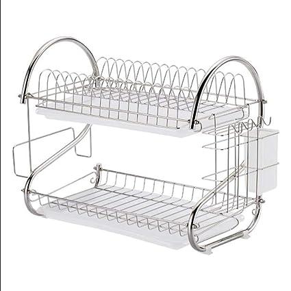 Amazon.com - WDS ZLH-Dish Rack Drain Basket Home Kitchen ...