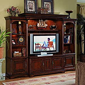 Hooker furniturer brookhaven home theater group w 56 inch console kitchen dining Home theater furniture amazon