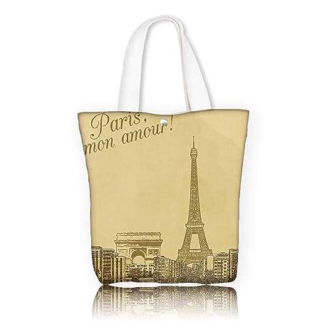 288de18108a78 Amazon.com  Canvas Beach Bags -W12 x H14 x D4.7 INCH Shopping Travel ...