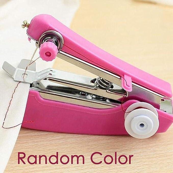 Kloius Mini máquina de Coser de Ropa Manual inalámbrica de Costura ...