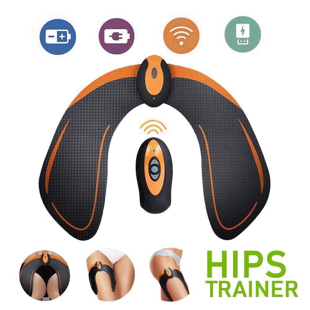 SHENGMI ABS Stimulator EMS Hip Trainer Butt Toner with Intelligence System, Helps to Lift, Shape and Firm, Body Massager for Women Fitness (with Remote Control)