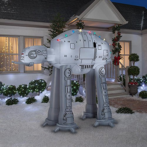 Gemmy 88.98 in. D x 62.21 in. W x 96.06 in. H Inflatable AT-AT On Snow Base Scene -