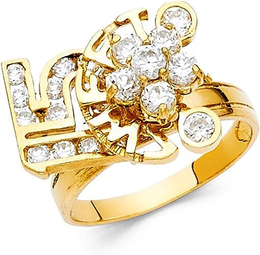 Sonia Jewels 14k Yellow Gold Cubic Zirconia CZ Mens Fashion Anniversary Ring