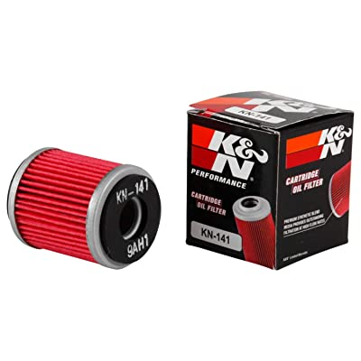 K&N Motorcycle Oil Filter: High Performance, Premium, Designed to be used with Synthetic or Conventional Oils: Fits Select Yamaha Vehicles, KN-141: Automotive