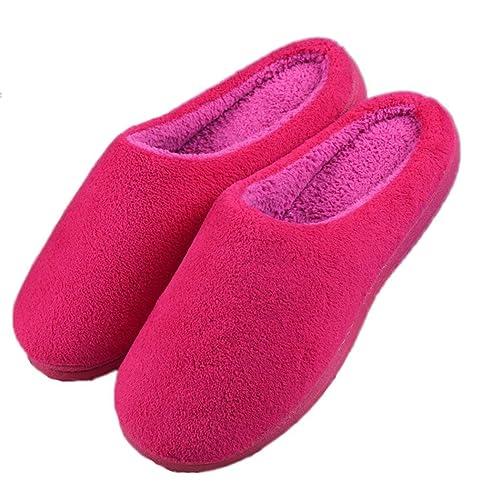 Summer Mae Pantofole Invernali Donna Scarpe Chiuse Antiscivolo Rosso EU  36-37 1ba8019e085