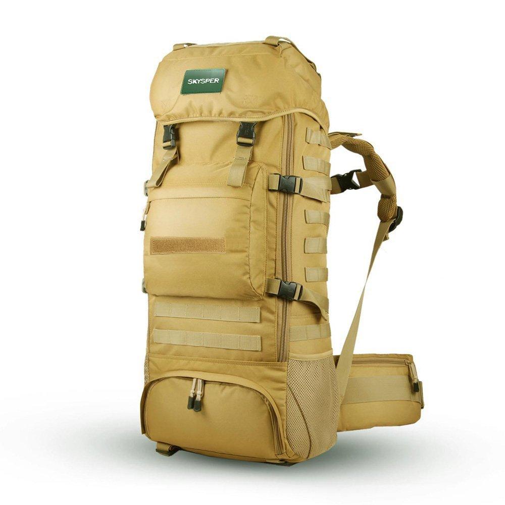 SKYSPERバックパック50L / 60L / 65L / 70L防水トラベルハイキングトレッキングバックパックリュックサック   B00ZI81WGK