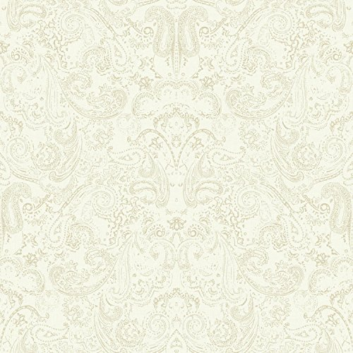 Large Paisley Wallpaper - York Wallcoverings Patina Vie Distressed Paisley Removable Wallpaper Beiges