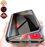 Privacy Magnetic Case for iPhone X/XS, Anti Peeping Clear Double Sided