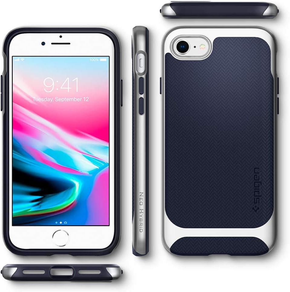 // Designed for iPhone 7 Case 2017 2016 - Metal Slate Spigen Neo Hybrid Designed for Apple iPhone SE 2020 Case//Designed for iPhone 8 Case