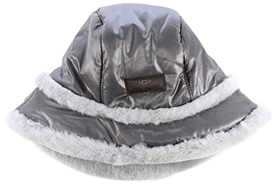 UGG Womens Nylon Hat With Exposed Short Pile Trim In Grey at Amazon ... 8a7da91bfe