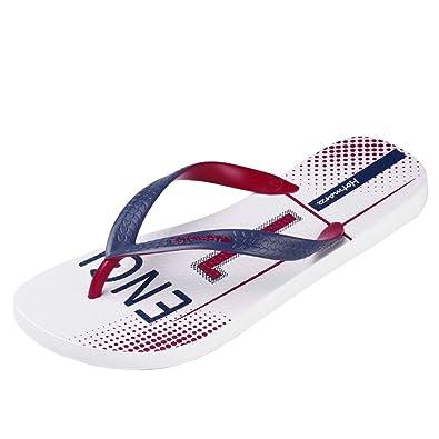 Hotmarzz Herren Zehentrenner USA England Sommer Strand Flip Flops Sandalen Badeschuhe