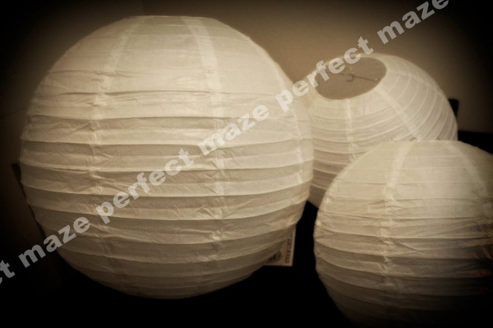 Perfectmaze 12 piece set 12 inch White Round Chinese Paper Lantern with Led for Wedding Party Engagement Decoration by Perfect Maze (Image #4)