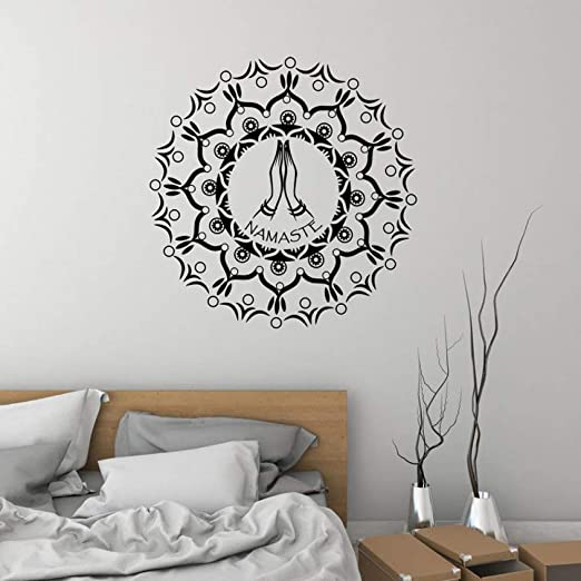 Mandala Etiqueta de la pared Yoga Sala de baile Vinilo ...