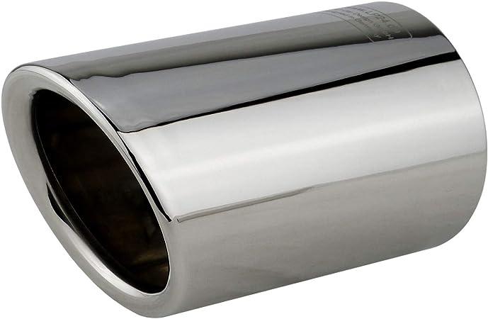 silenciosos efecto espejo pulido Embellecedor de escape L/&P A290 2 unidades de acero inoxidable conectar y listo