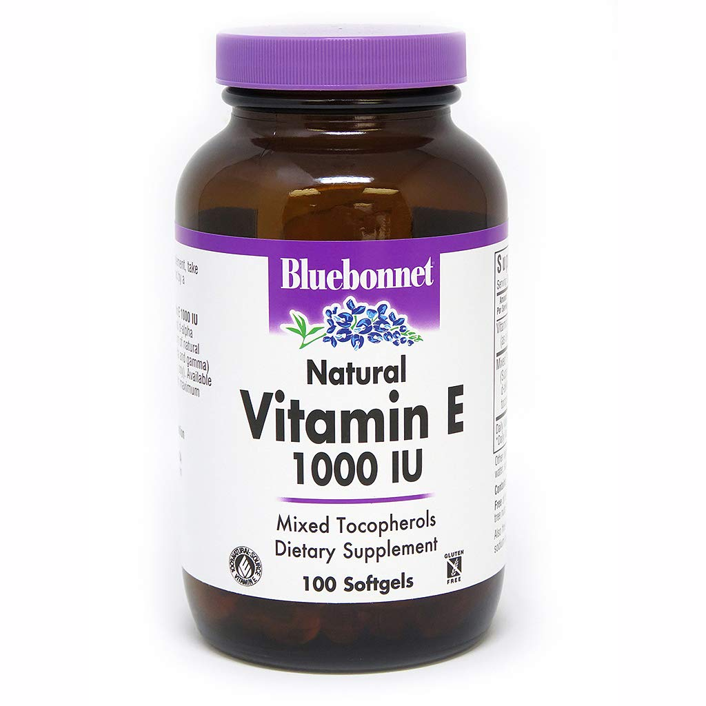 BlueBonnet Vitamin E 1000 IU Mixed Softgels, 100 Count by Bluebonnet