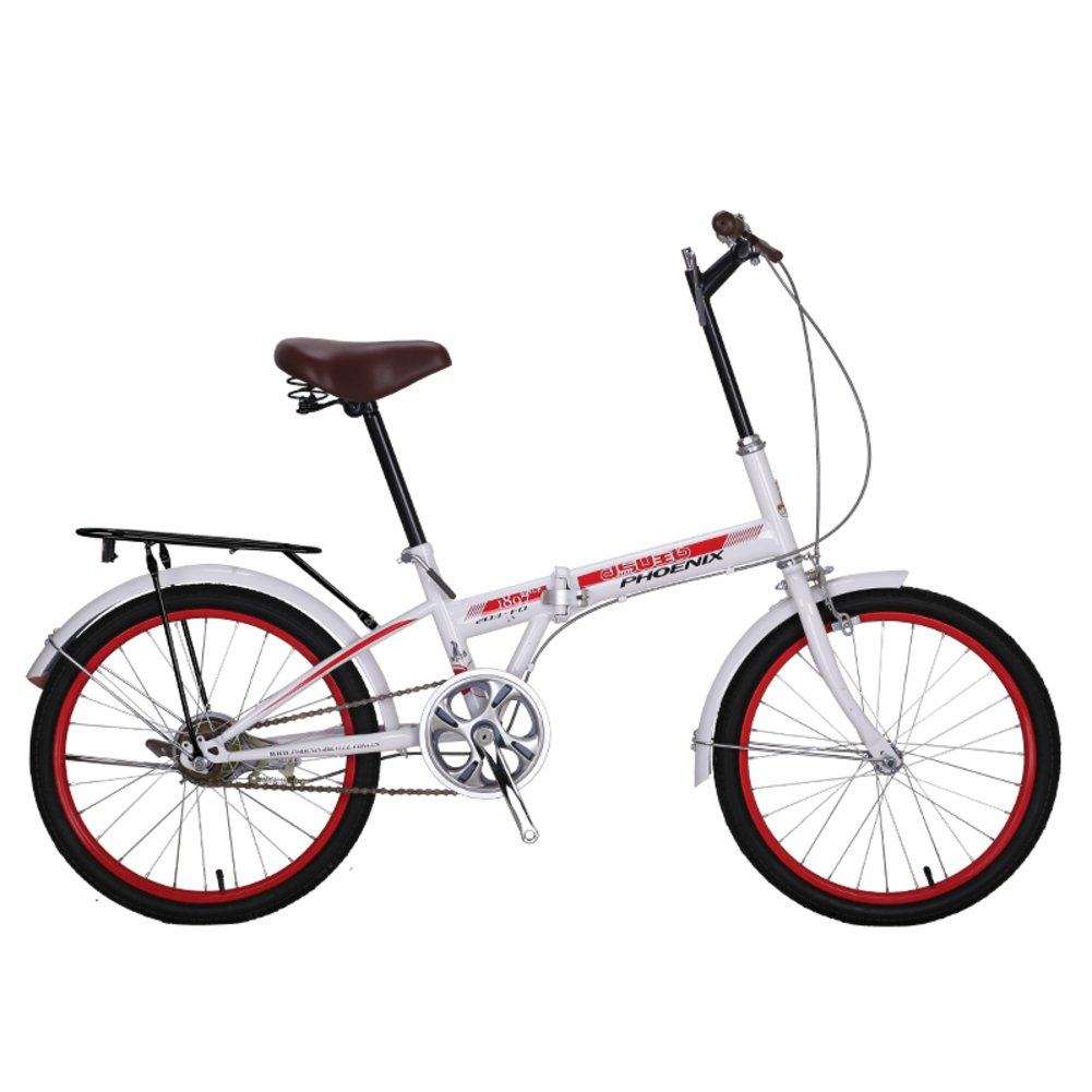 女性 折りたたみ自転車, 大人 折りたたみ自転車 シングル スピード 市 学生 男性と女性の自転車 折りたたみ自転車 B07CZFX9HW 20inch|ホワイトA ホワイトA 20inch