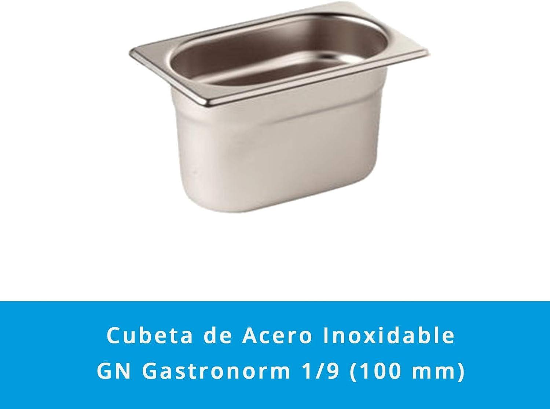 Abmessungen 176 x 108 mm GN Beh/älter Gastronorm 1//9 Edelstahl Tiefe 100 mm /· Abgerundete Ecken /· Best/ändig bis 260 /ºC