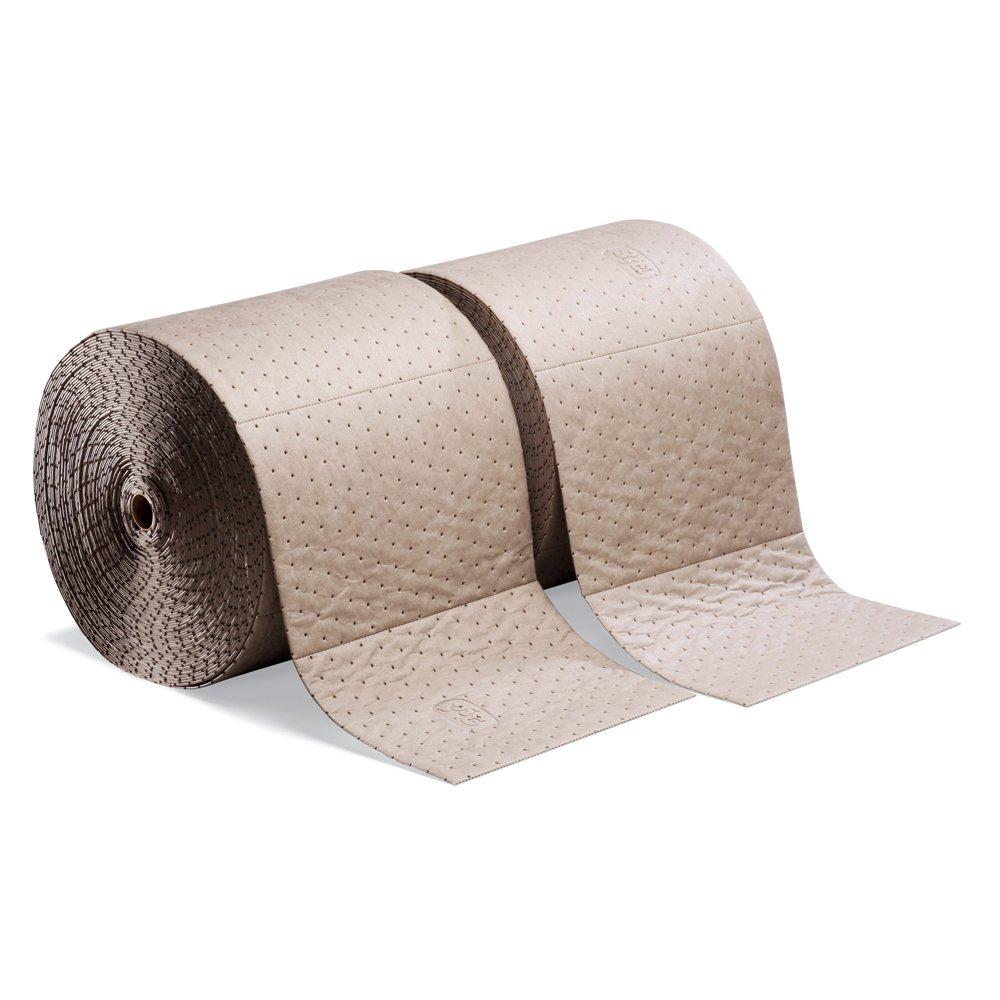 New Pig MAT520 Polypropylene Oil-Only Absorbent Mat Roll, 40.2 Gallon Absorbency, 150' Length x 15'' Width, Brown (Bag of 2)