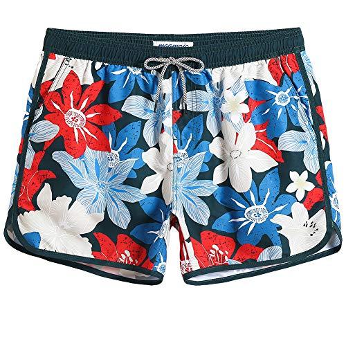 MaaMgic Mens Boys 80s 90s Short Vintage Swim Trunks Mens Bathing Suits Slim Fit Swim Shorts Swimsuit for Men]()