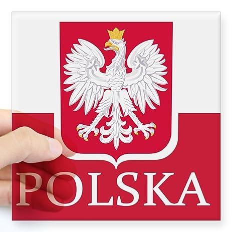 Cafepress polska polish flag sticker square bumper sticker car decal 3x3quot
