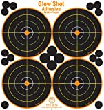 25 and 75 Pack - 4 Bullseye - Reactive Splatter Targets - Tagboard and Adhesive Versions- GlowShot - Multi Color - Gun and Rifle Targets