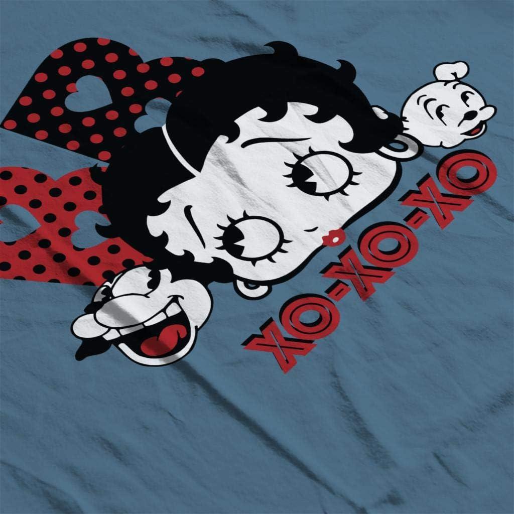 Comics Kingdom Betty Boop Bimbo and Pudgy XOXOXO Kids T-Shirt