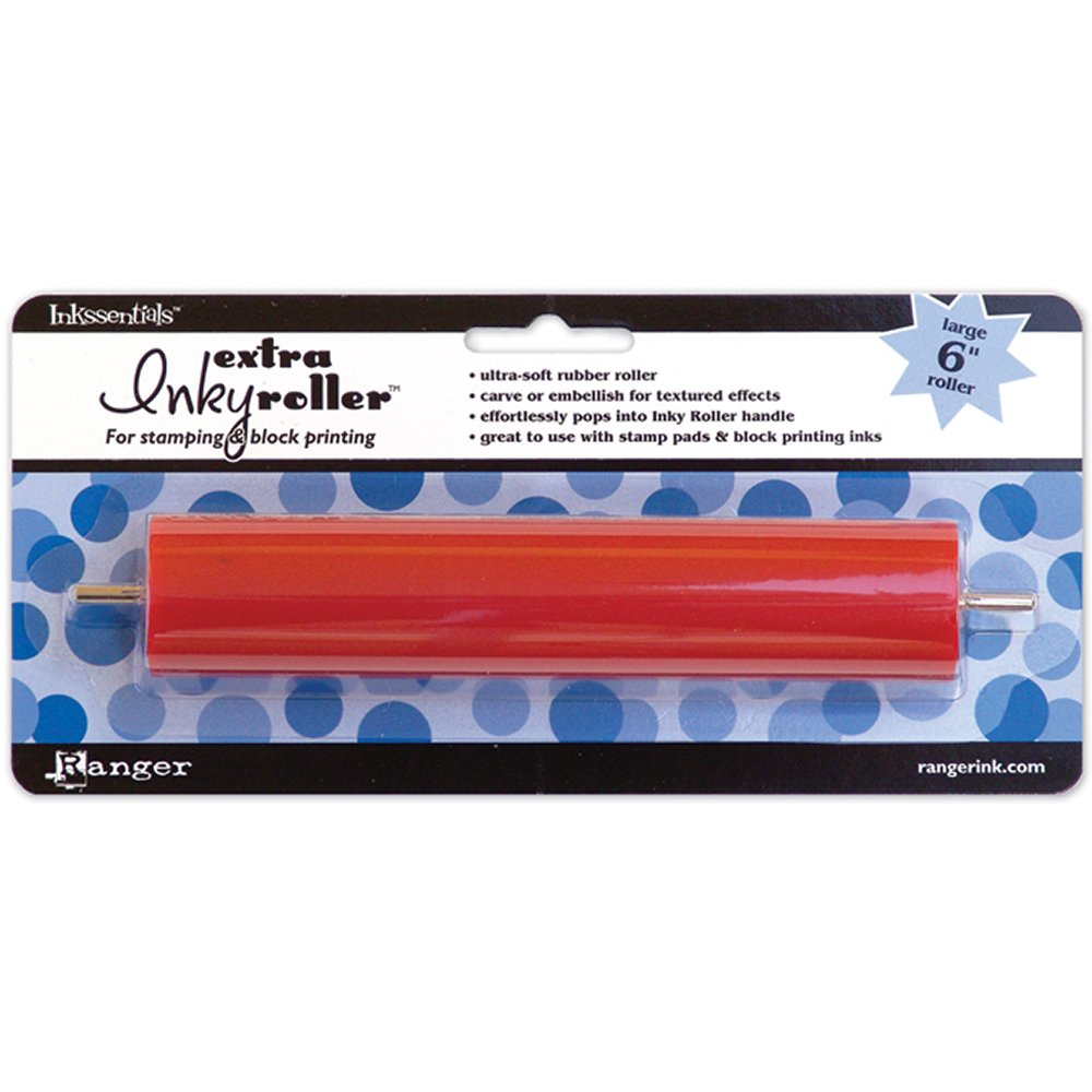 Ranger Large 6-Inch Extra Inky Roller Brayer, Red Notions - In Network ROL09924